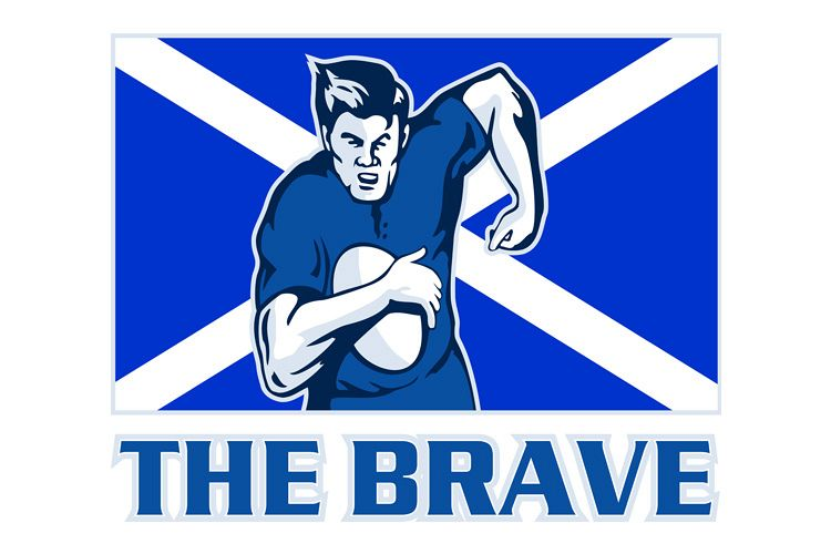 rugby player scotland flag the brave example image 1
