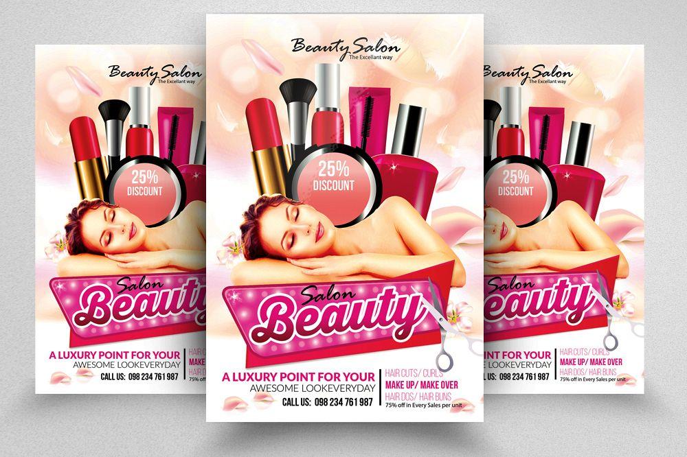 Beauty U0026 Fashion Salon Flyer Template Example Image