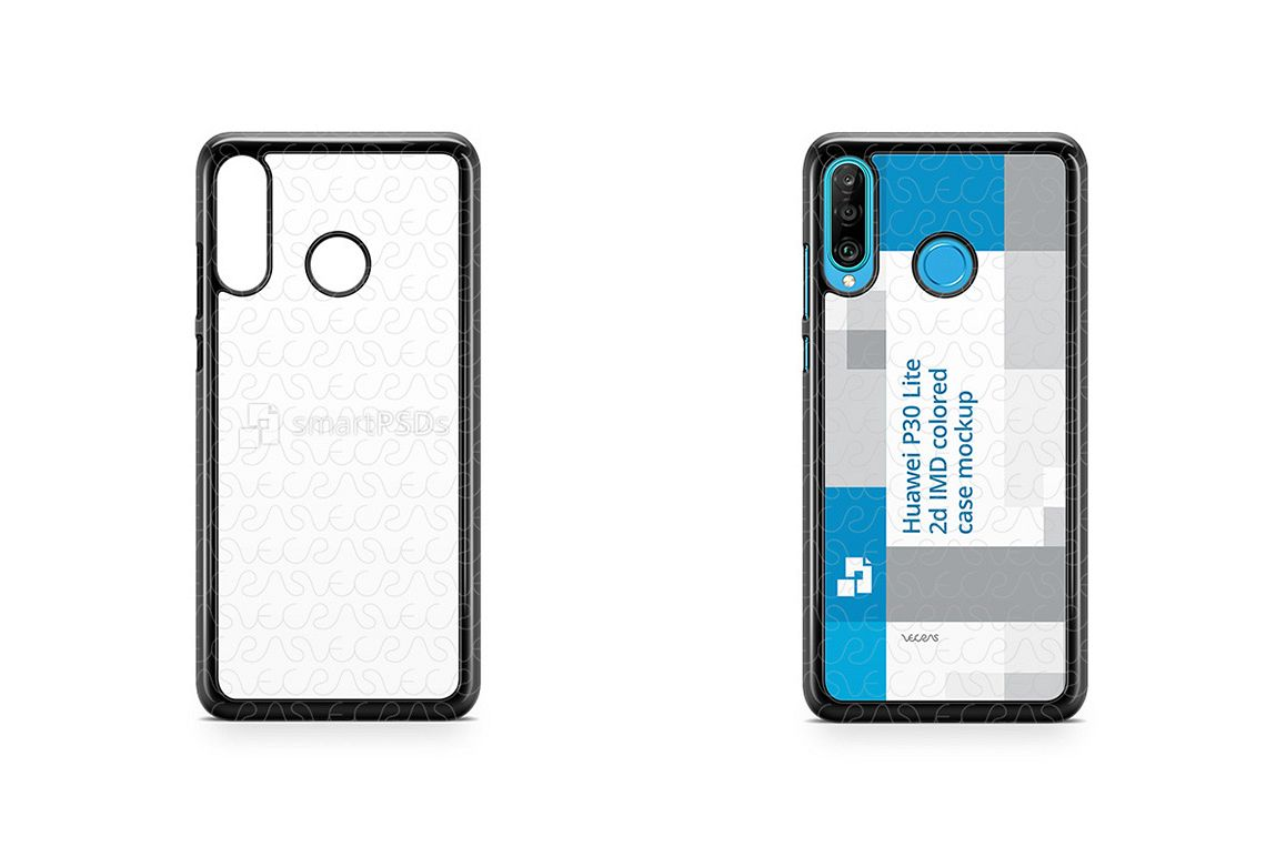 Huawei P30 Lite 2d PC Colored Case Design Mockup 2019 example image 1