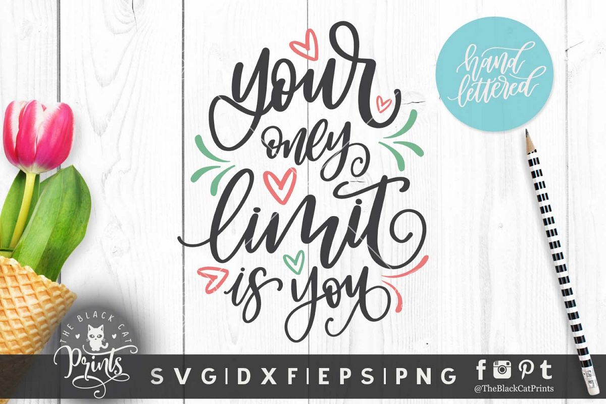 Your only limit is you SVG DXF EPS, Hand lettered example image 1