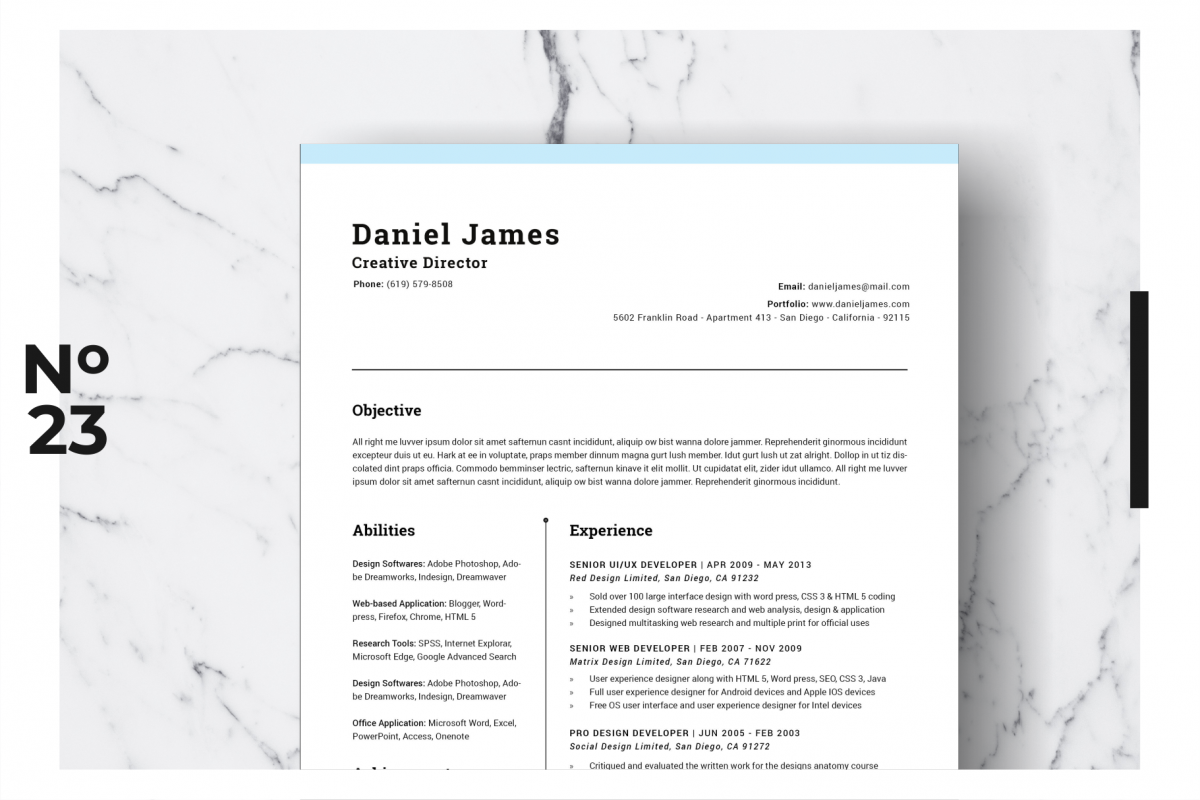 Resume Template Vol. 06 example image 1