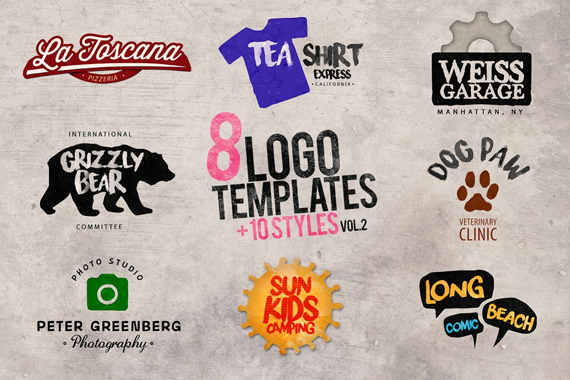 8 Logo Templates + Extras vol.2 example image 1