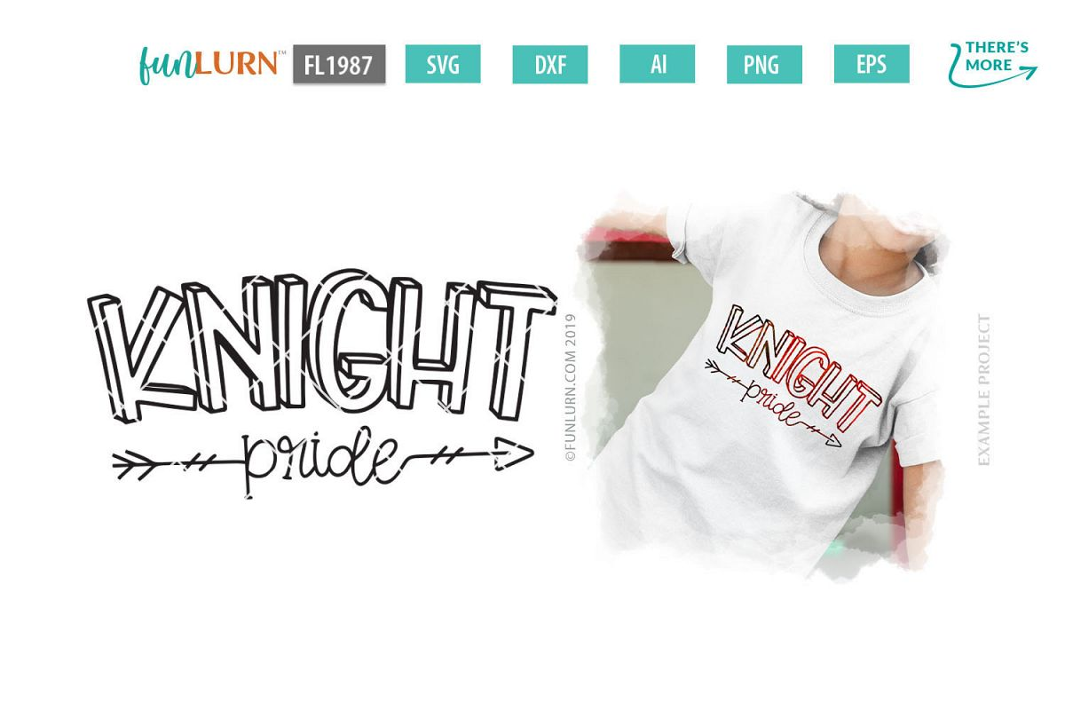 Knight Pride Team SVG Cut File example image 1