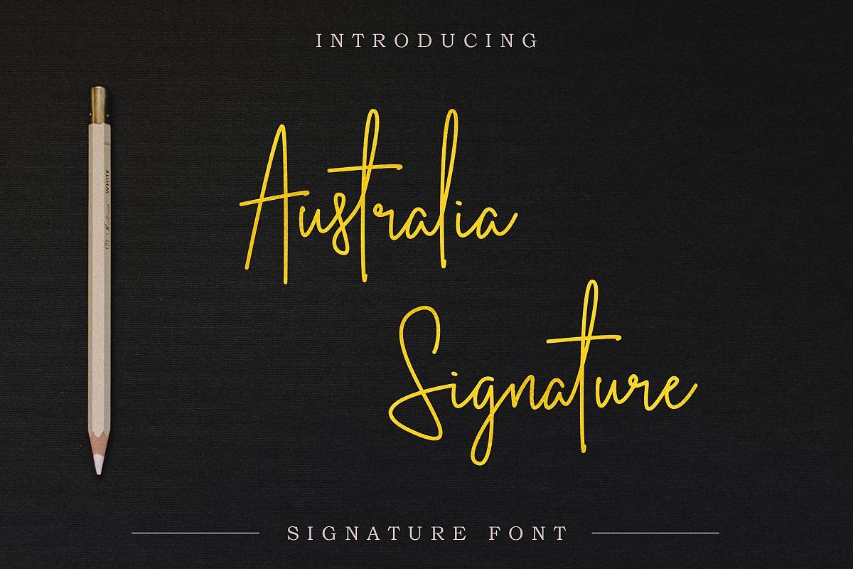 Australia Signature | Script Font example image 1