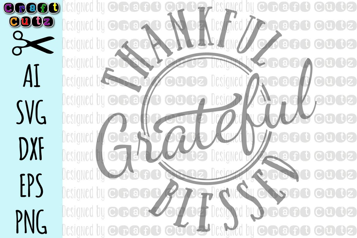 Thanksgiving Maternity SVG, Thankful Grateful Blessed SVG example image 1