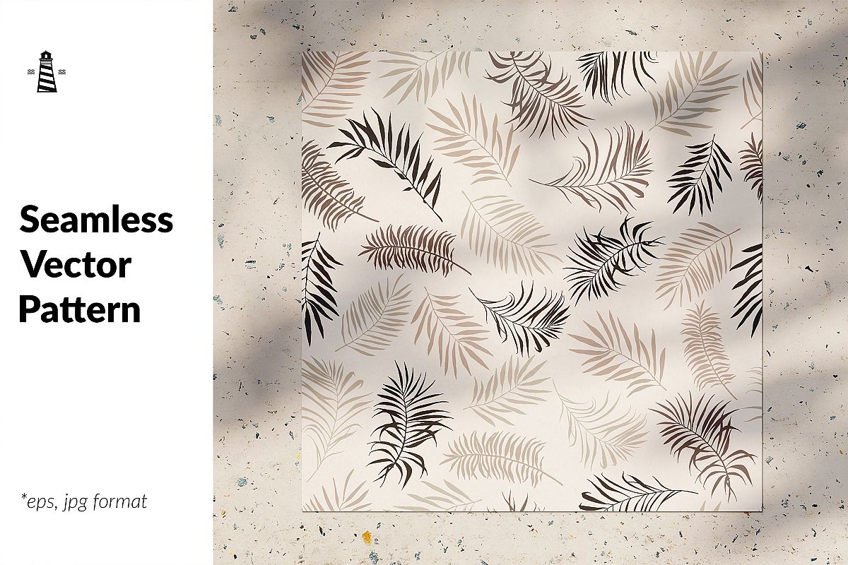 Tropical leaves seamless pattern example image 1