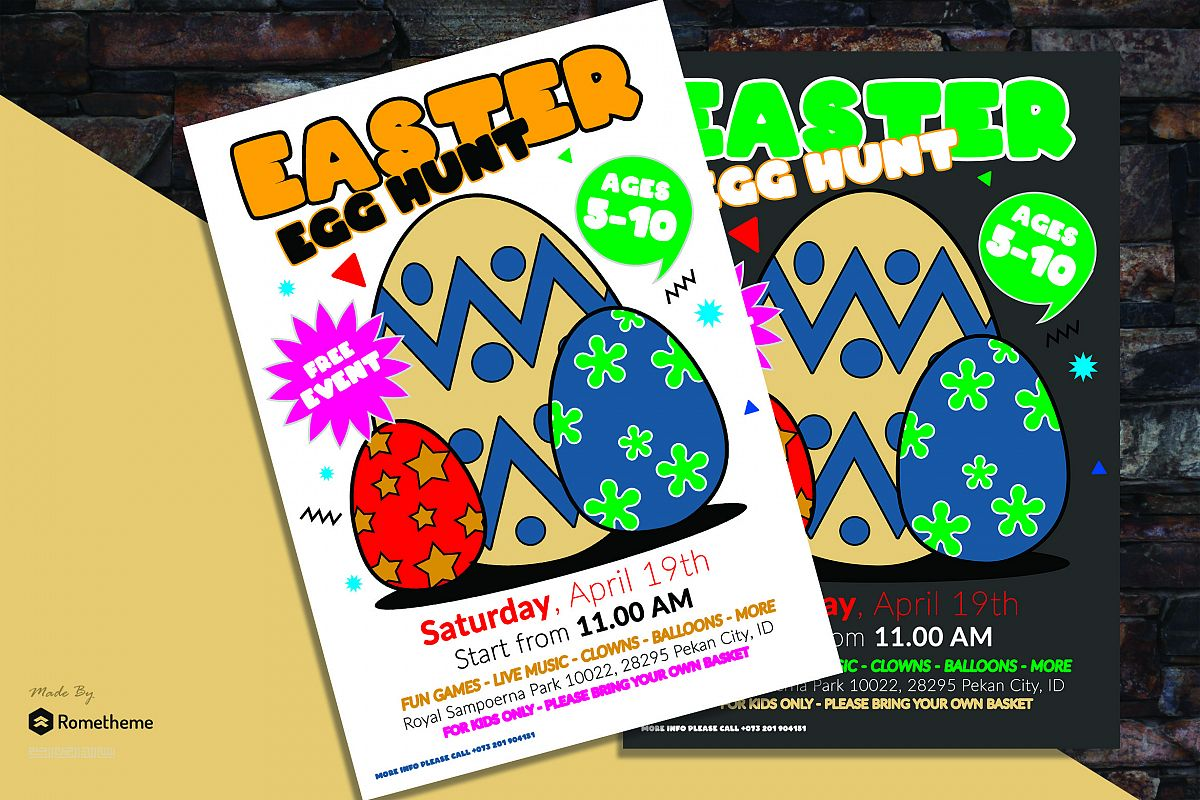Easter Egg Flyer vol. 01 example image 1