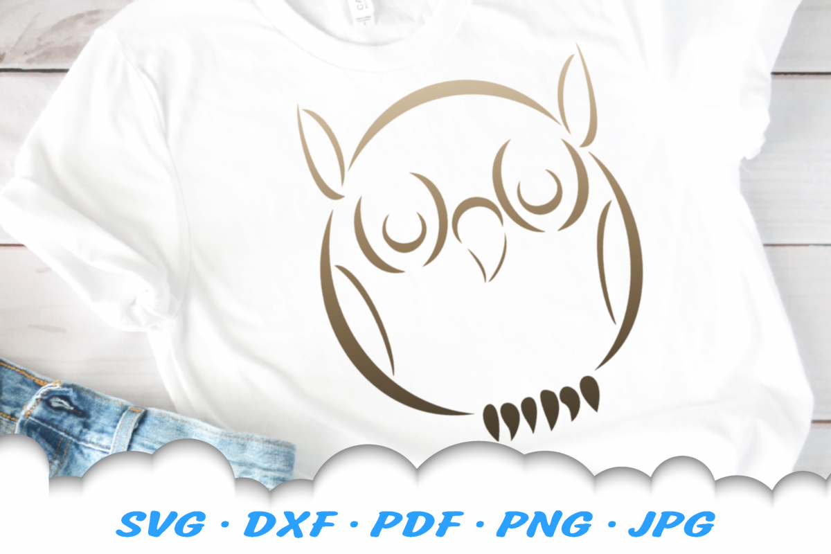 Tribal Owl SVG DXF Cut Files example image 1