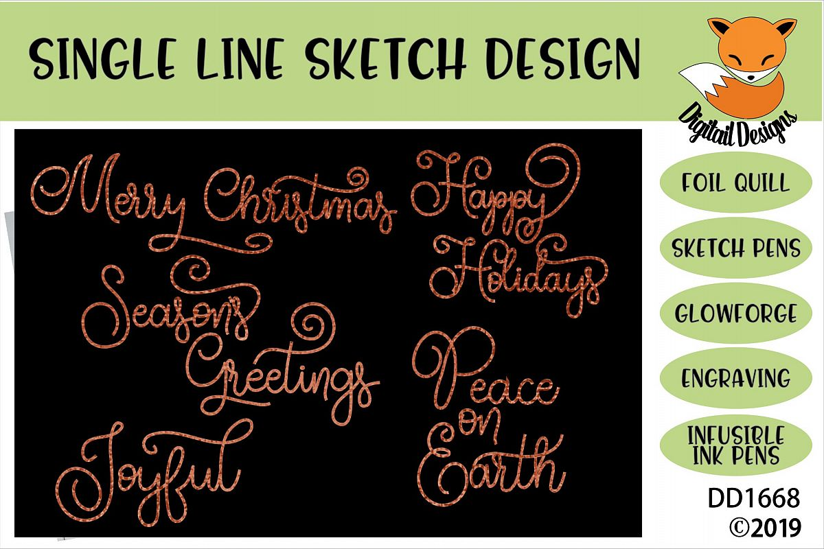 Foil Quill Christmas Greetings Bundle example image 1