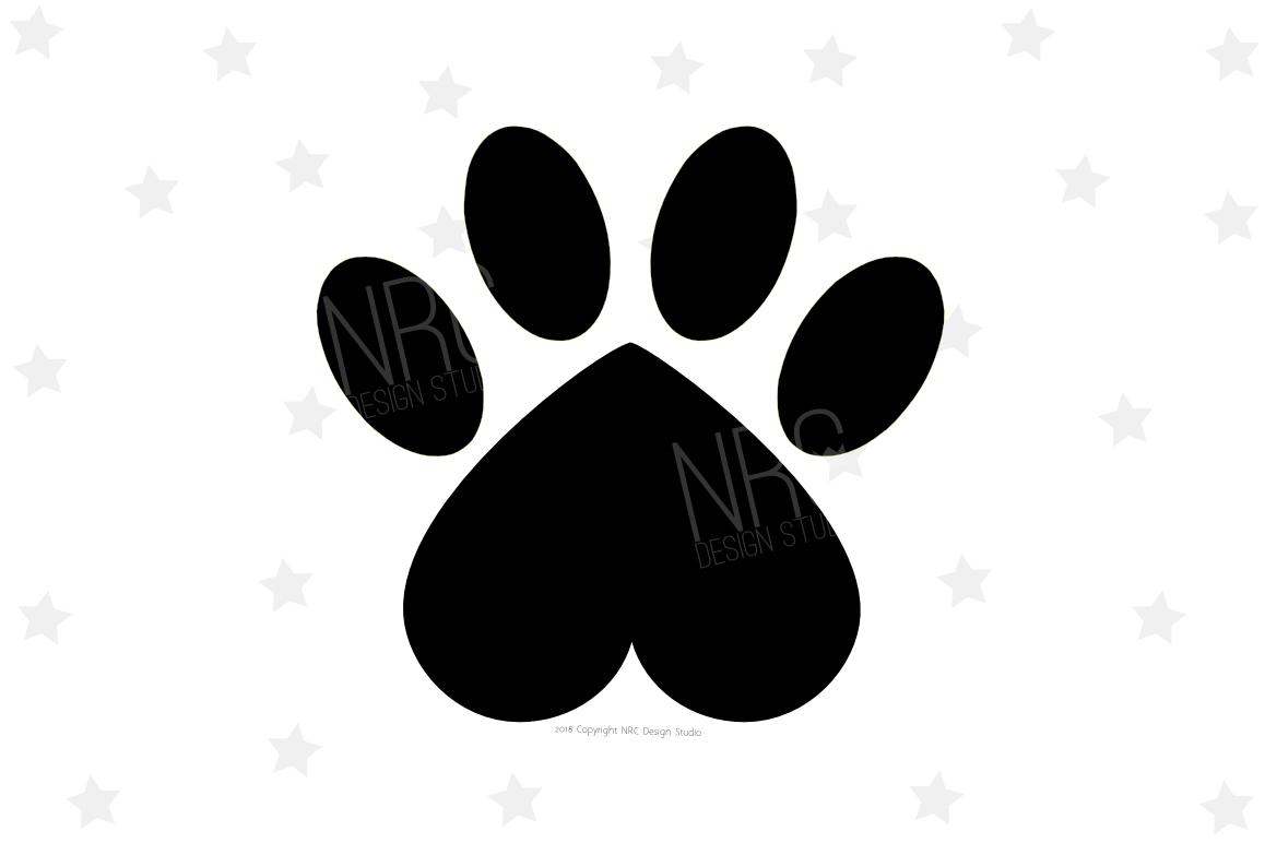 Download Heart Paw Print SVG File (65338)   SVGs   Design Bundles
