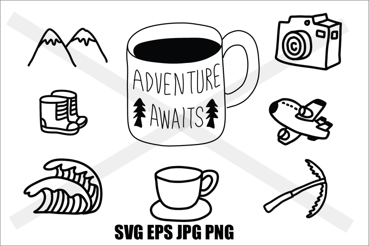 Adventure Set 1 - SVG EPS JPG PNG example image 1