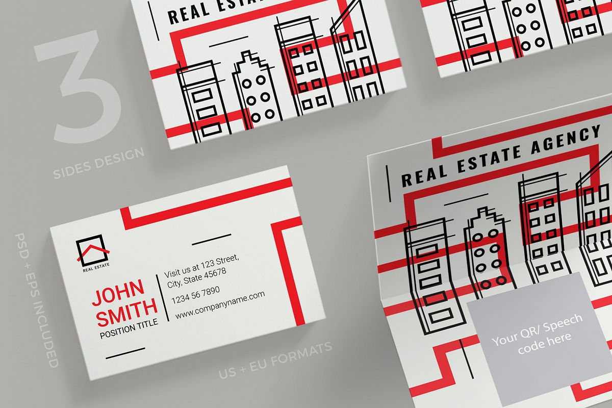 Real estate agency business card design templates kit real estate agency business card design templates kit example image 1 friedricerecipe Images