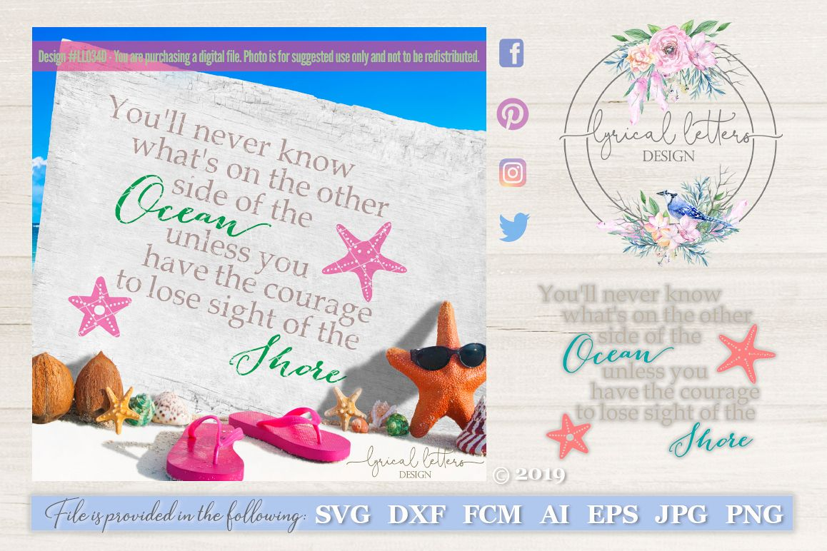 Lose Sight of the Shore SVG DXF Cut File LL034D example image 1