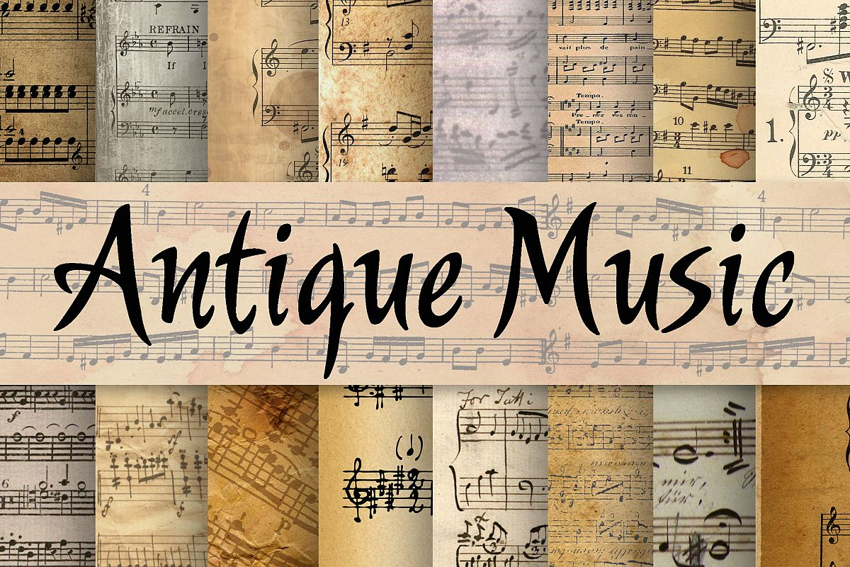 Antique Music Digital Paper example image 1