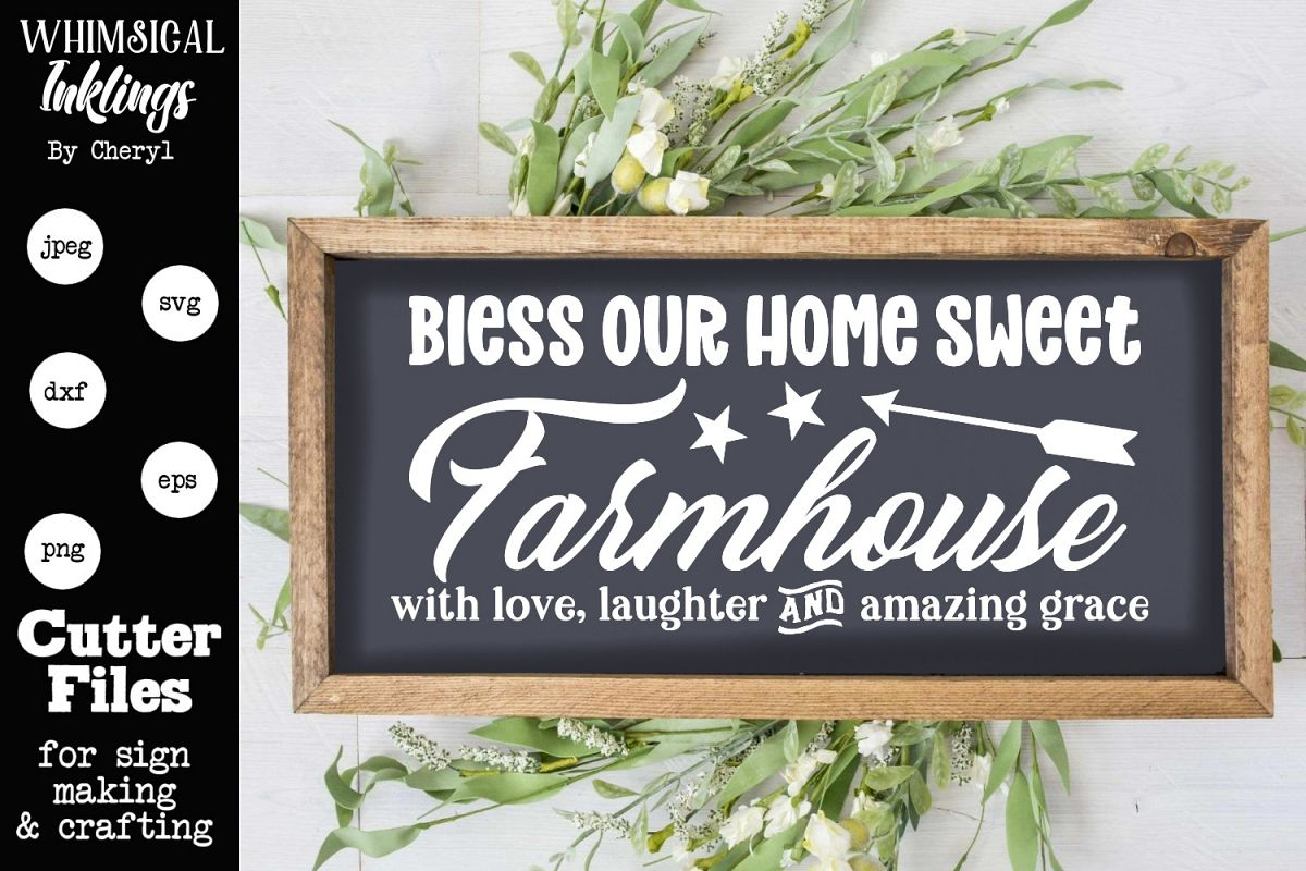 Home Sweet Farmhouse SVG example image 1