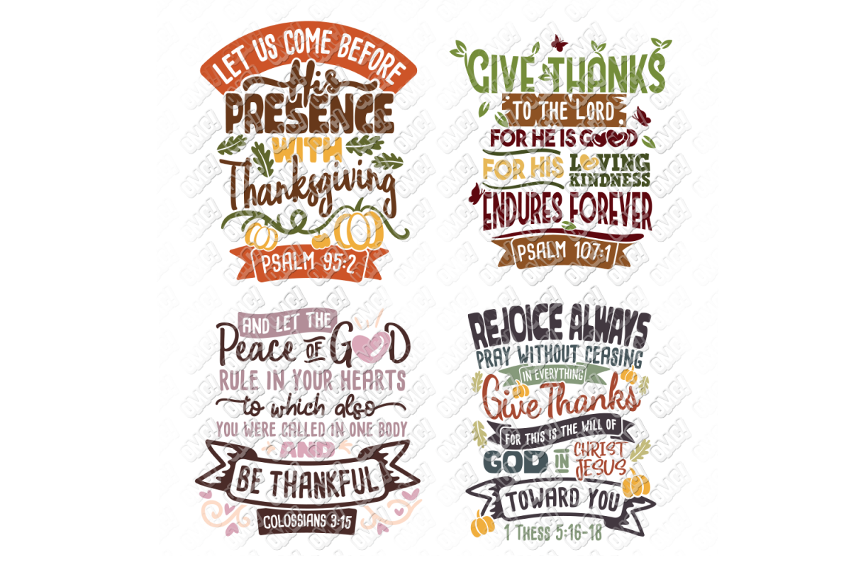 Thanksgiving Bible Verse SVG in SVG, DXF, PNG, EPS, JPG example image 1