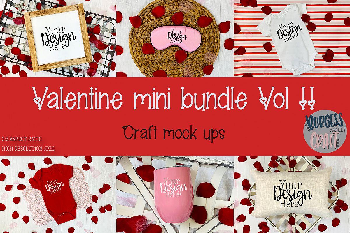 Valentine Mini Bundle Vol II | Craft mock up example image 1