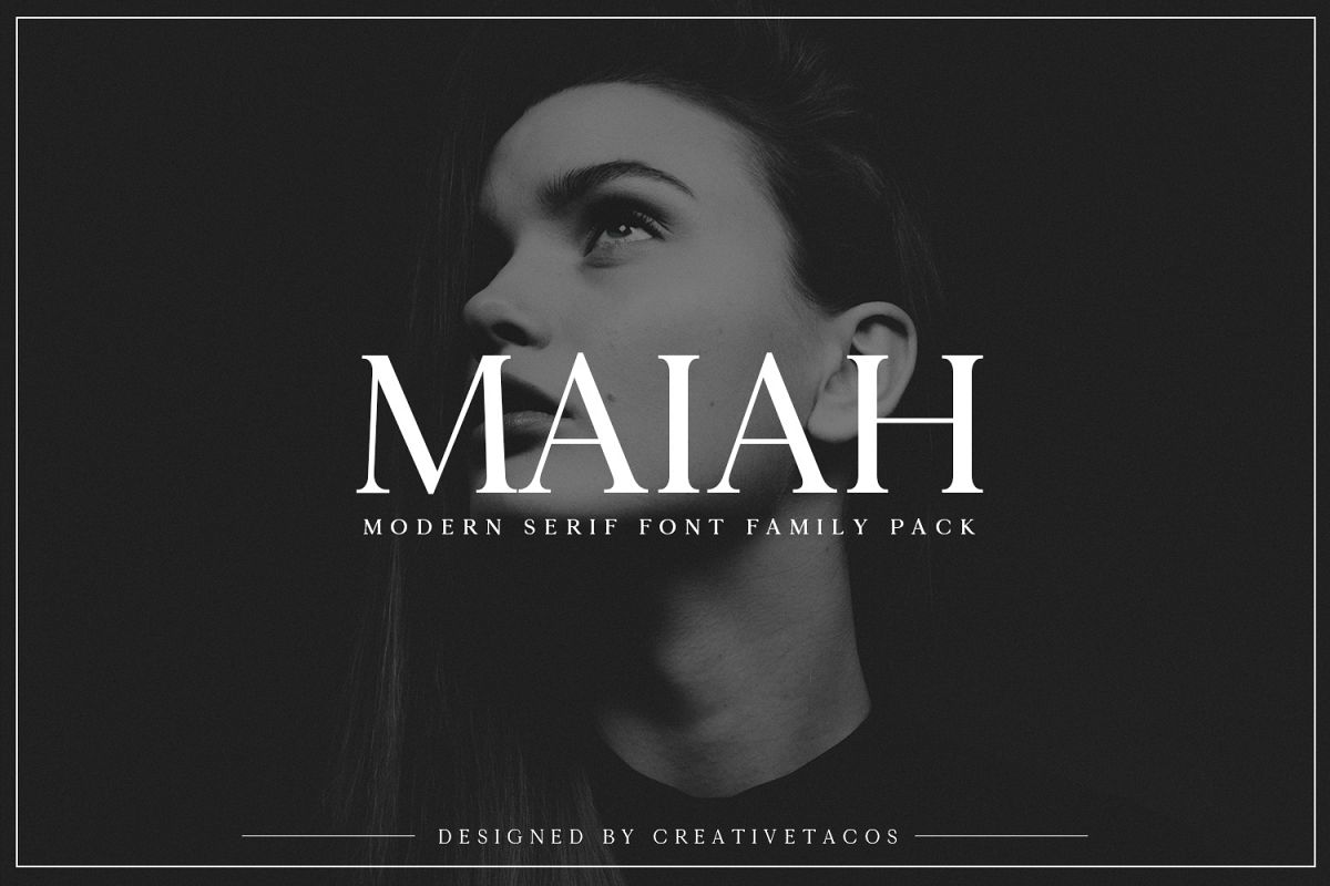 Maiah Serif Font Family Pack example image 1