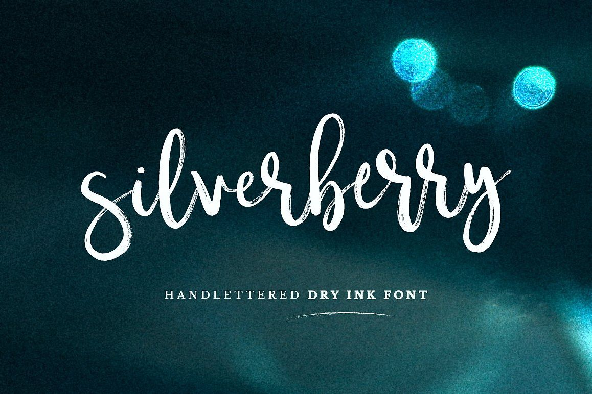 Silverberry - Dry Ink Font example image 1