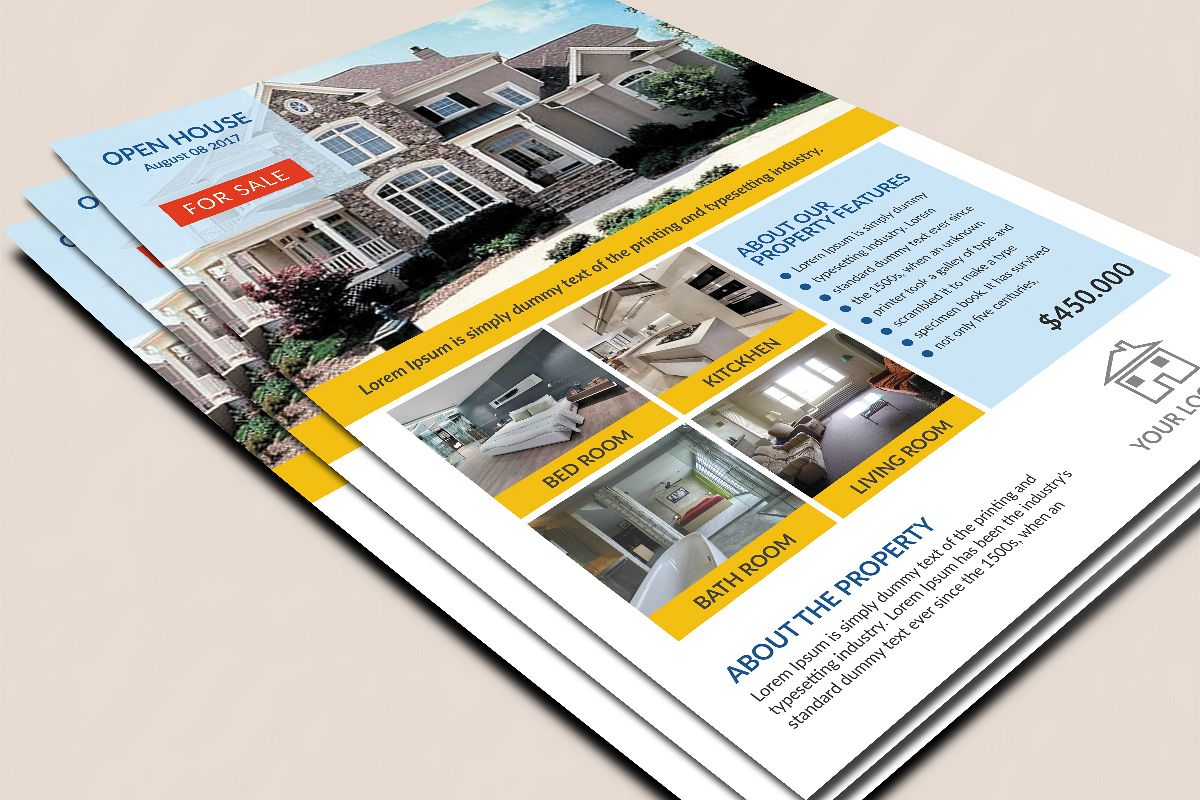 house for sale flyer design by saniaijaz design bundles