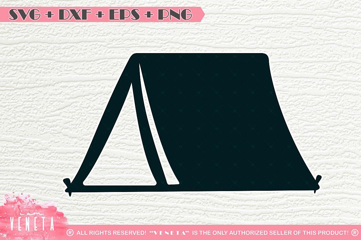 Camping Tent Svg Dxf Eps Png Cutting File