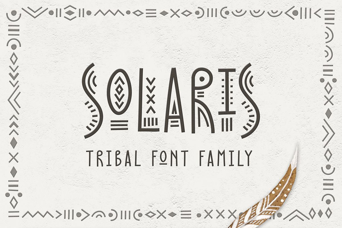 Solaris - Tribal Font Family example image 1