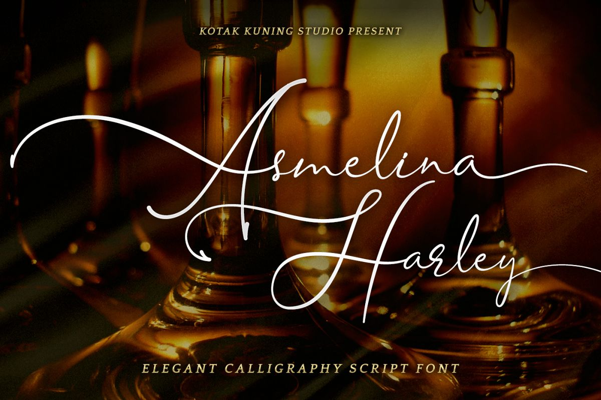 Asmelina Harley Script example image 1