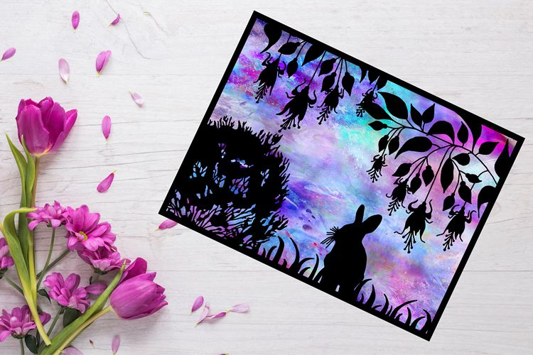 Bunny Rabbit Papercut Template example image 1