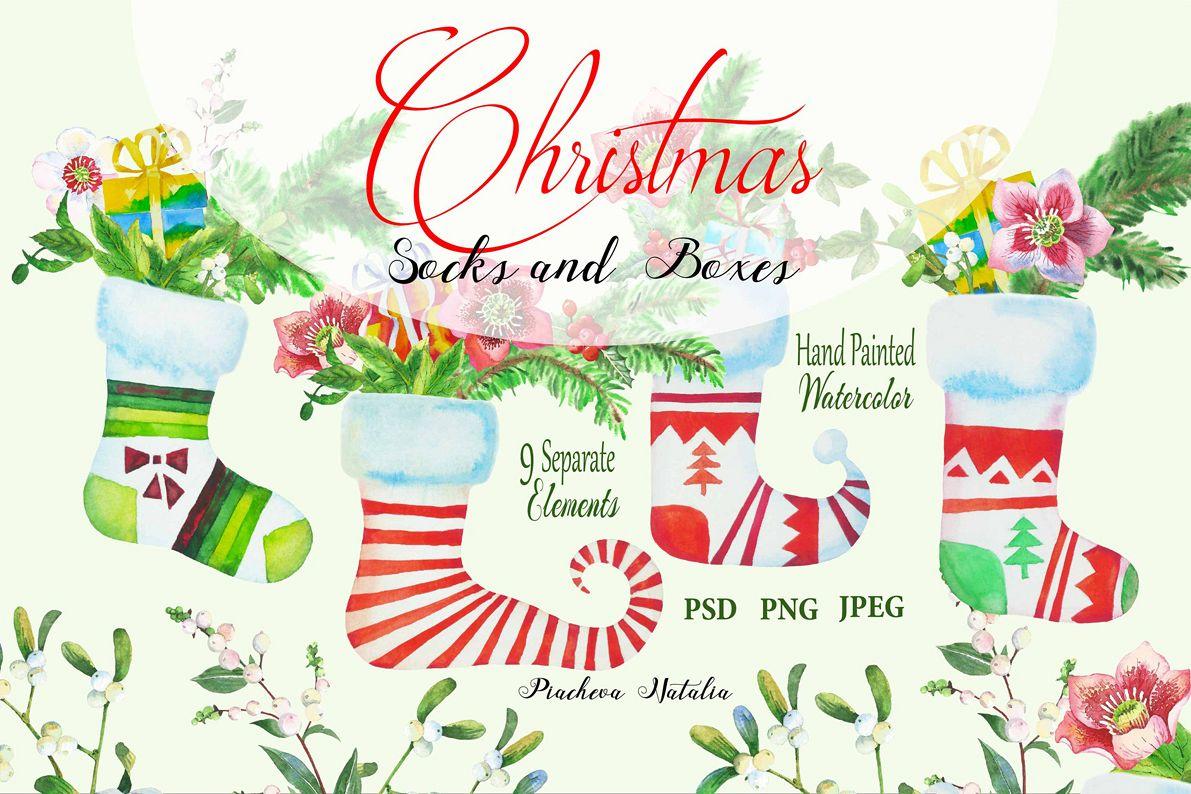 Christmas Socks and Boxes example image 1