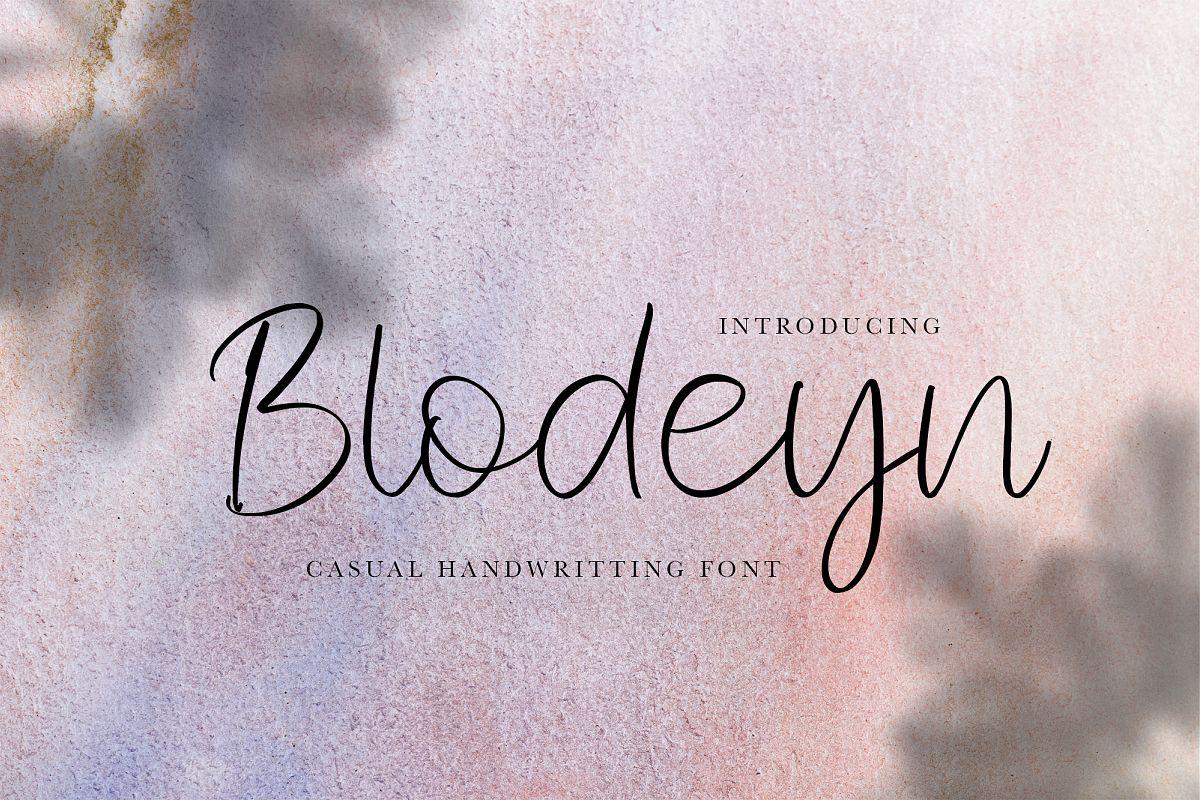 Blodeyn Handwritten Font example image 1
