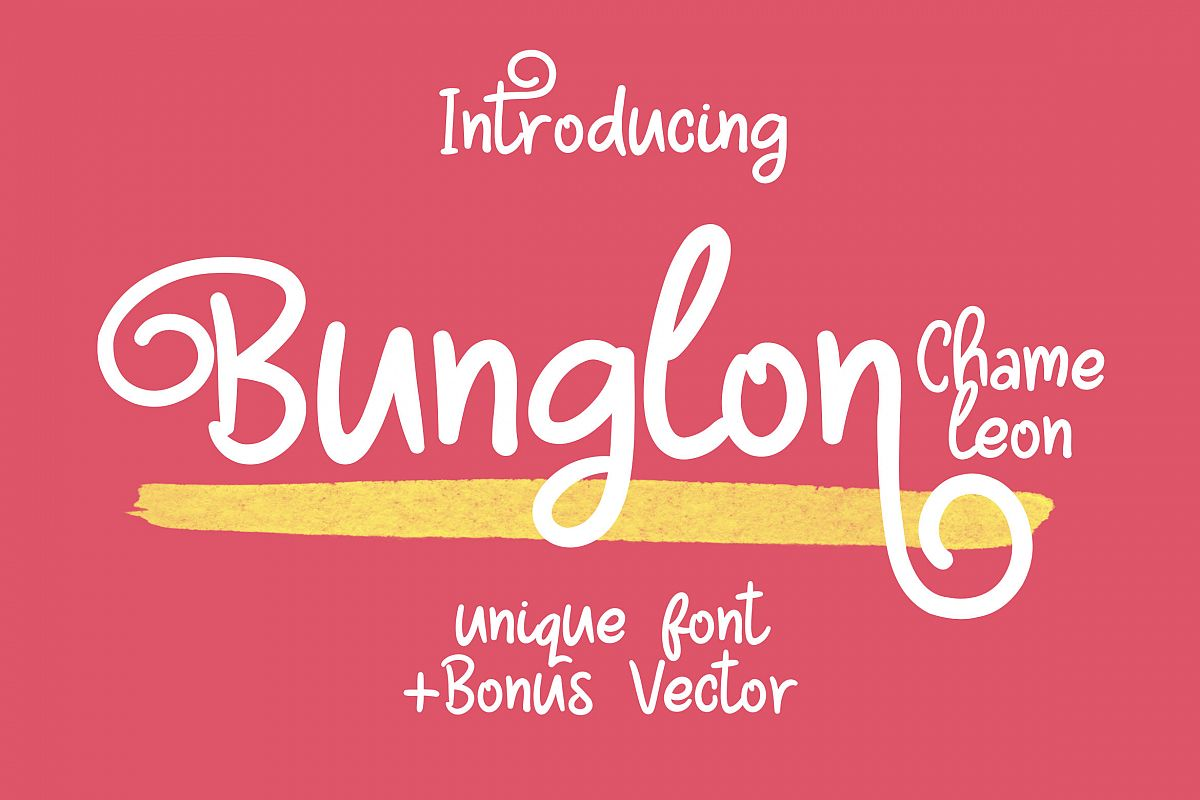 Bunglon Chameleon + Bonus Vector example image 1