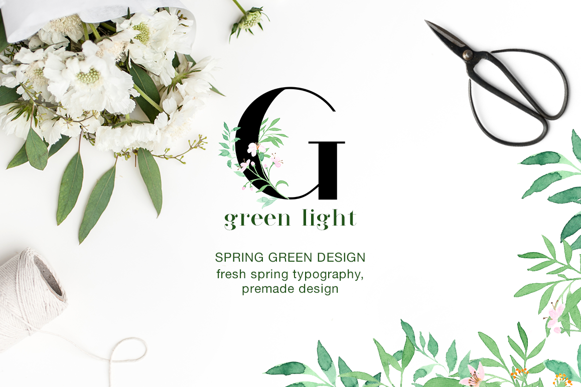 Green Light Fresh Spring Art Greenlight Ariel Series Premium Example Image 1