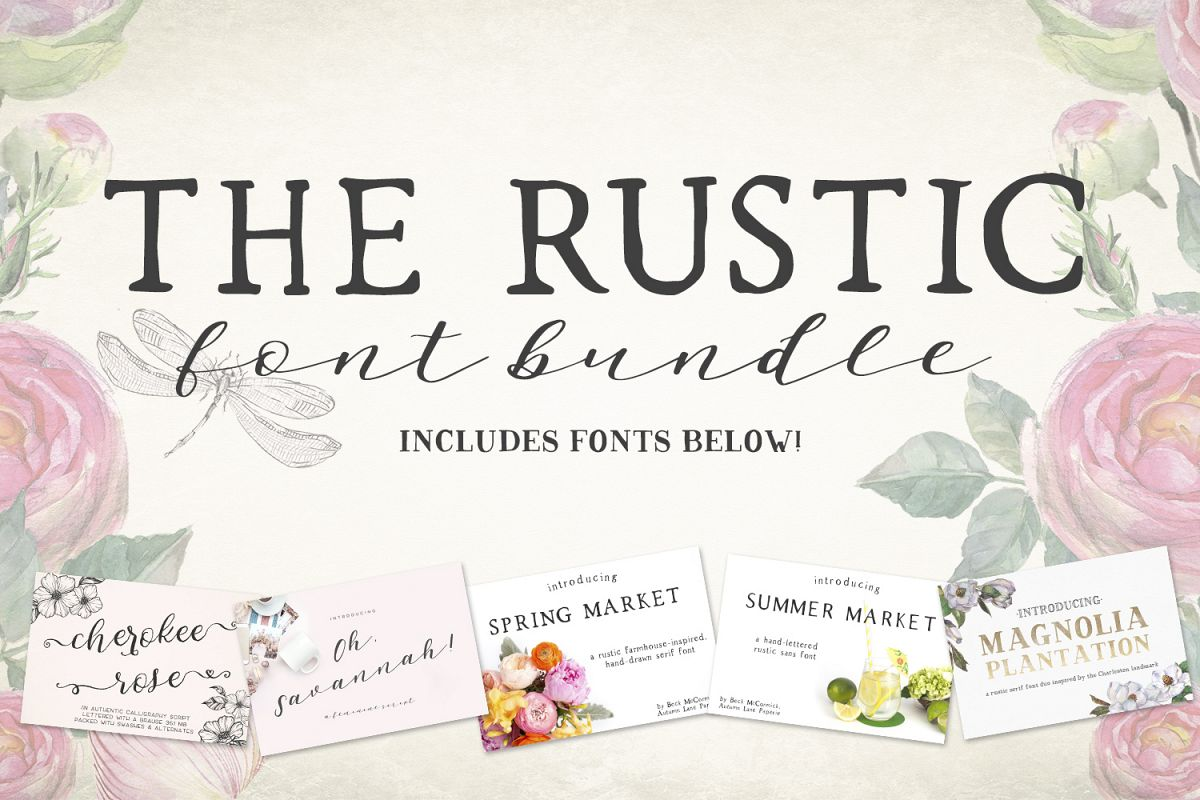 The Rustic Font Bundle by Beck McCormick example image 1