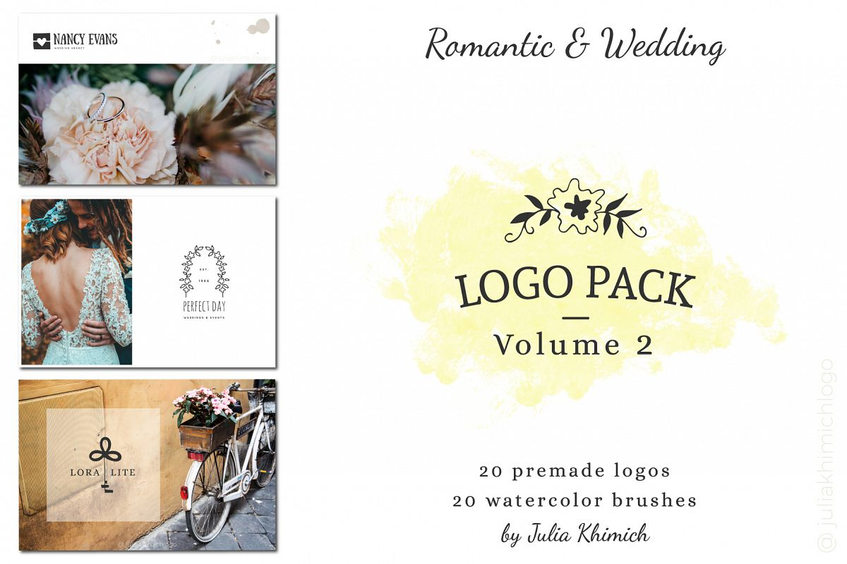 Logo Pack Vol.2. Romantic & Wedding example image 1