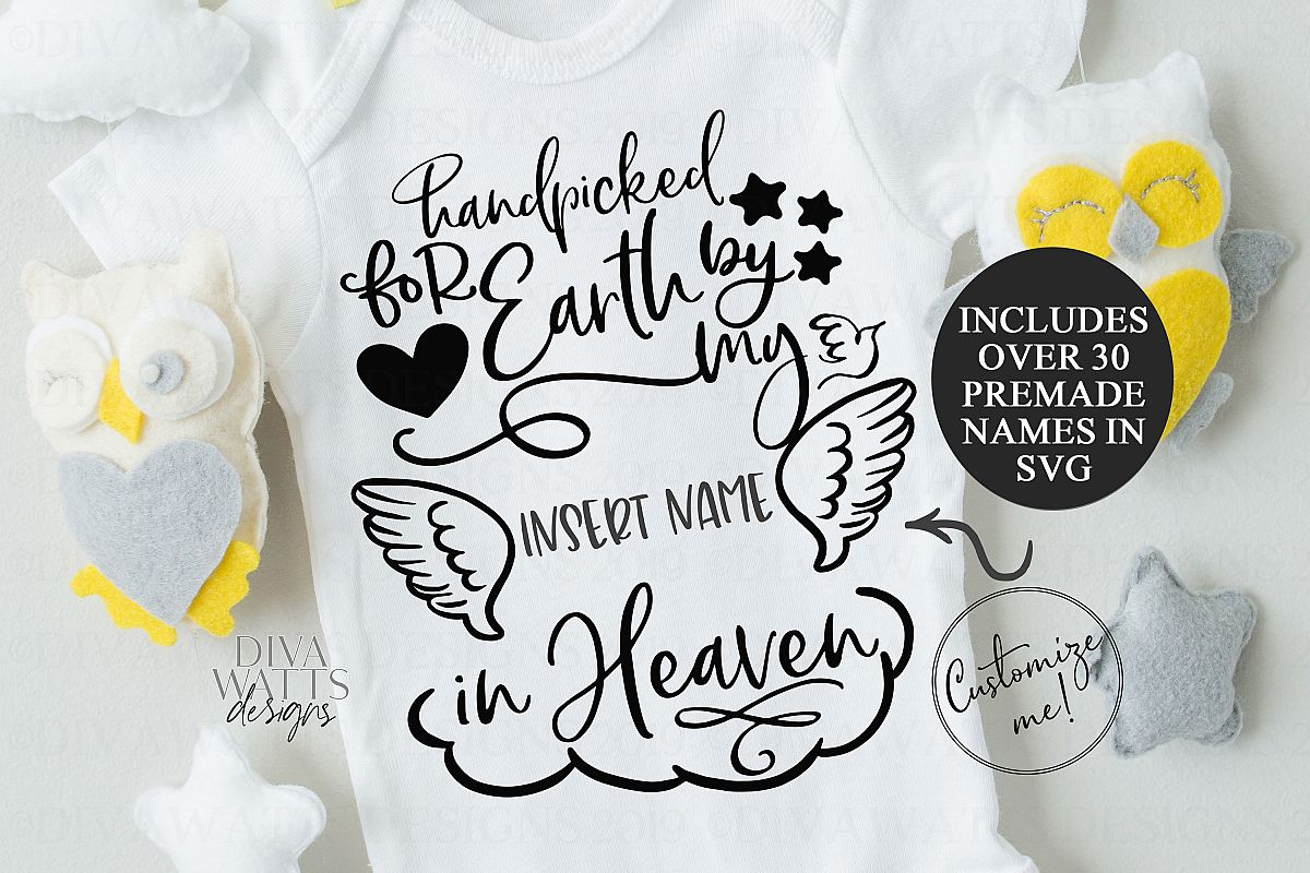 Handpicked for Earth by my Sibling in Heaven Rainbow Baby example image 1