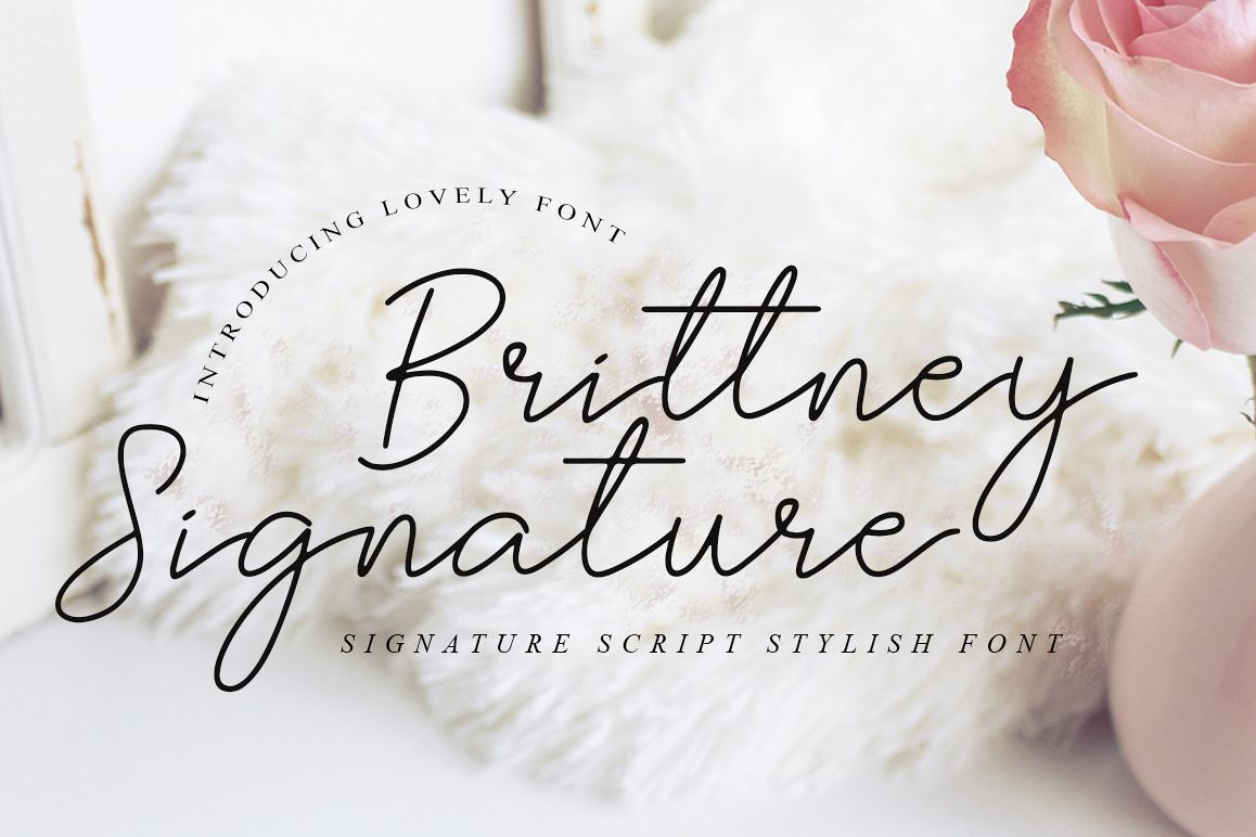 Brittney Signature - Beauty Fonts example image 1