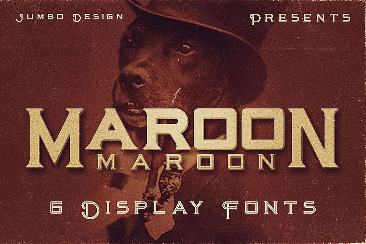 Maroon - Vintage Style Font example image 1