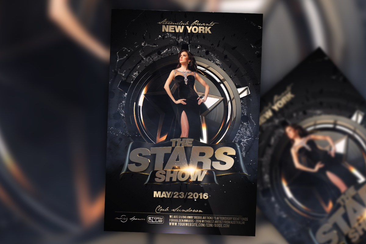 The Stars Flyer Template example image 1