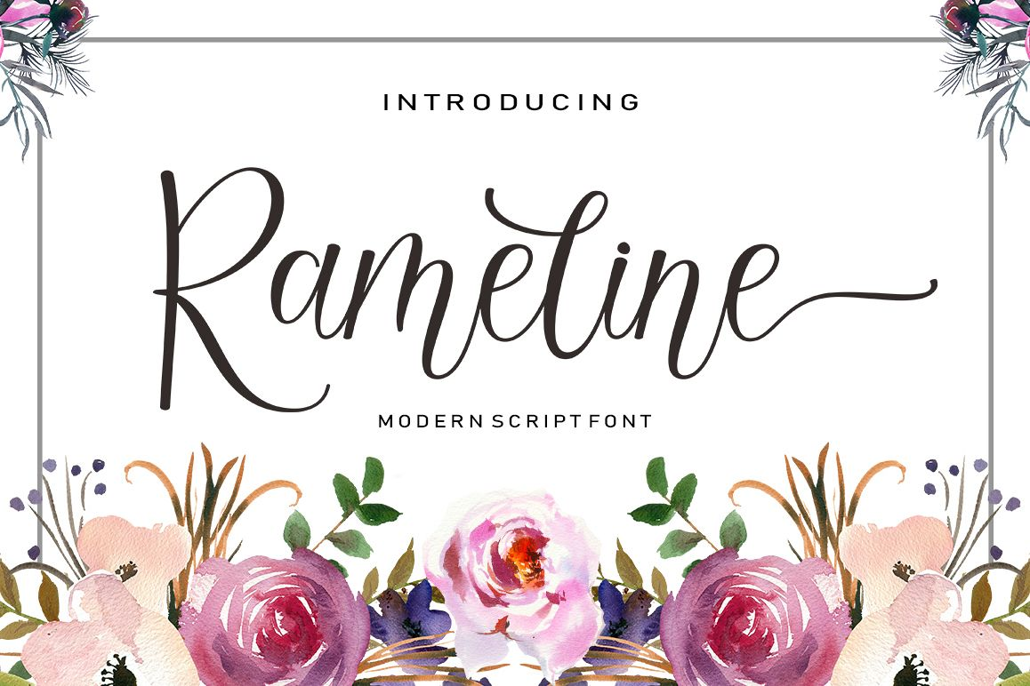 Rameline Script example image 1