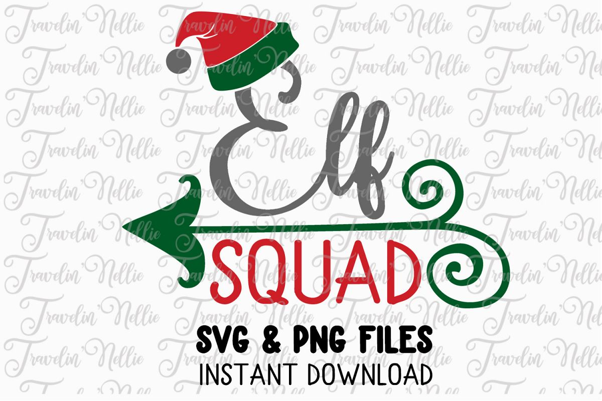 Elf Squad Svg Christmas Winter Holiday Cute Snow Cut File example image 1