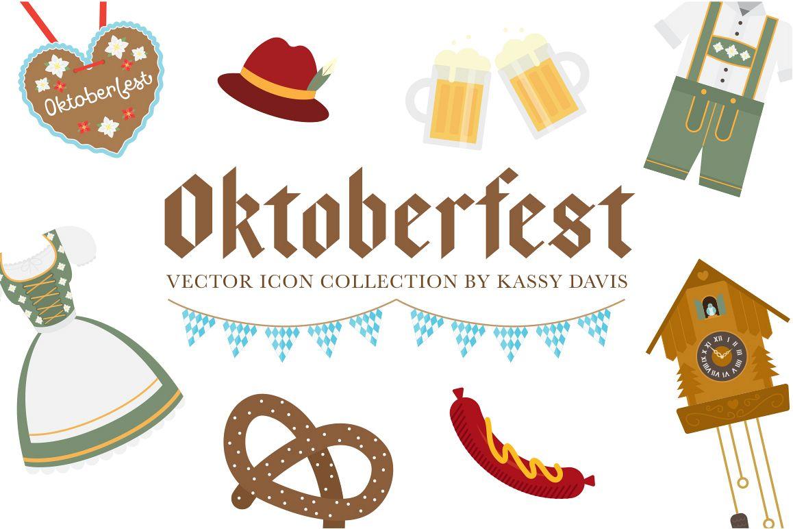 Download Oktoberfest Vector Icon Collection 175849 Illustrations Design Bundles