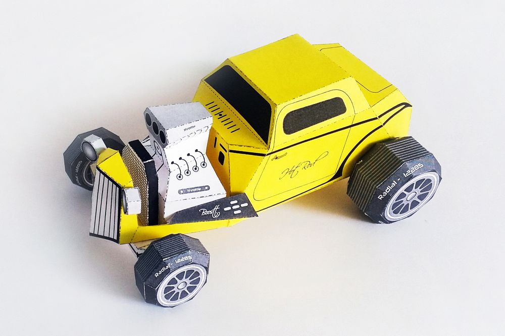 DIY Paper Car - 3d papercraft example image 1