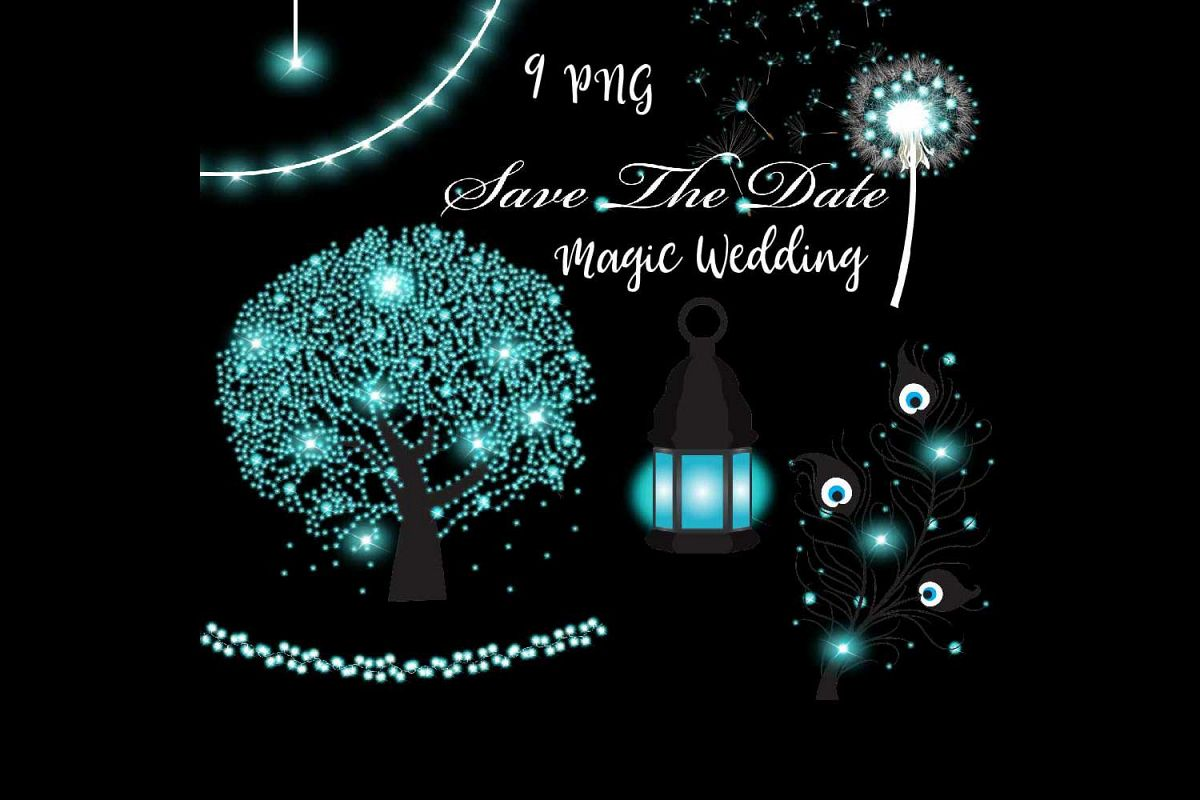 Magic Wedding Clipart example image 1