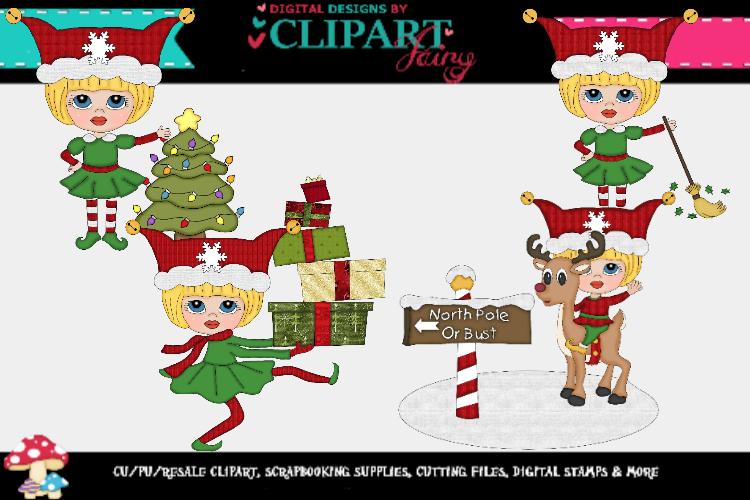 Christmas Elf Girls 4 example image 1