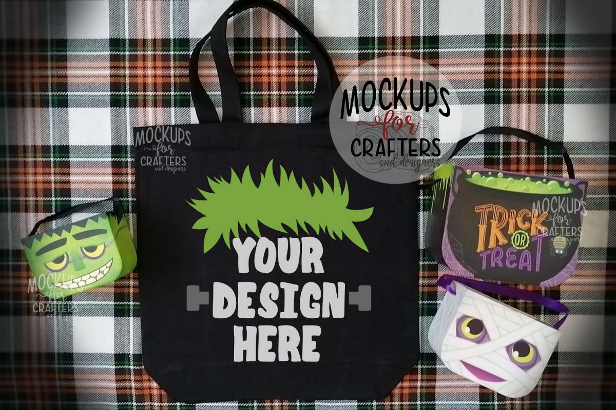 Halloween Treat Bag, Tote Bag, Mock-Up example image 1
