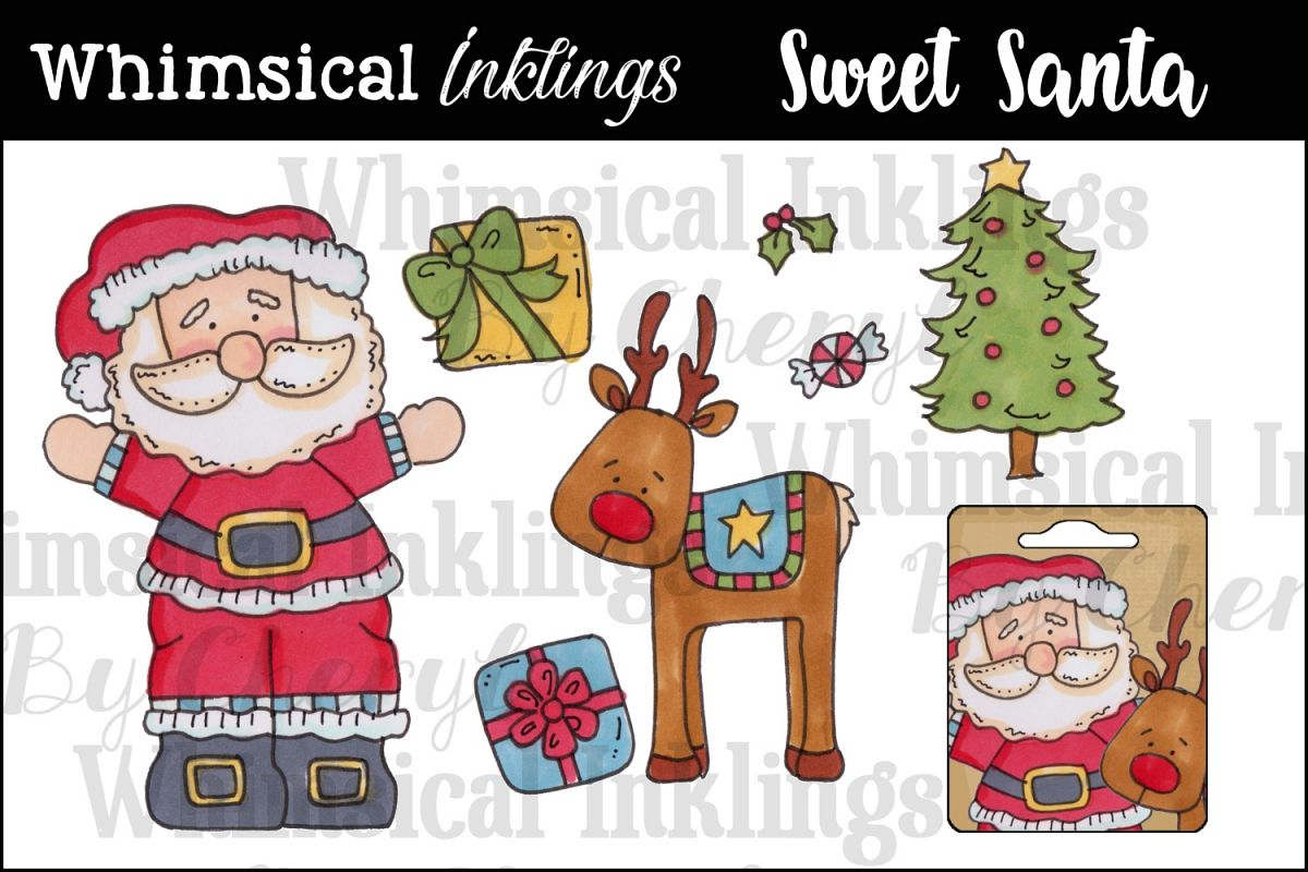 Sweet Santa Christmas Clipart Collection example image 1