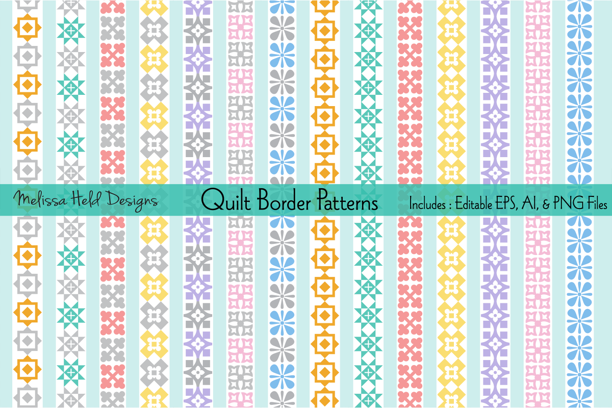 Pastel Quilt Border Patterns example image 1