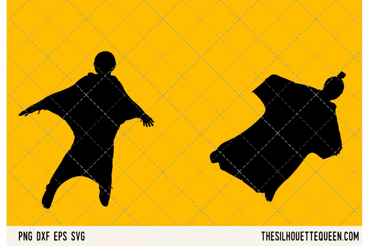 Wingsuit Flying SVG example image 1
