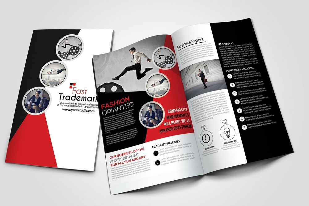 Employment Agency Business Bifold Brochure example image 1