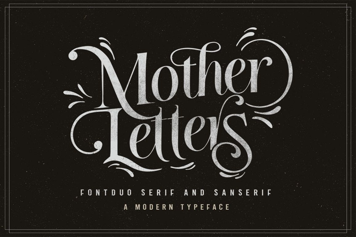 MOTHER LETTERS FONT DUO example image 1